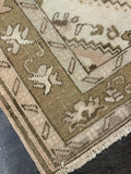 "3'6"" x 10'6"" Vintage Turkish Oushak Runner"