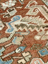"Load image into Gallery viewer, 7'8"" x 11'2"" Antique Heriz Large Area Rug - Online Oriental Rugs"