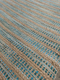 8' x 10' Tri- Colored Hemp Natural Fiber Rug