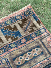 "Load image into Gallery viewer, 2'1"" x 7'4"" Vintage Turkish Oushak ""Rug Bits"" - Online Oriental Rugs"