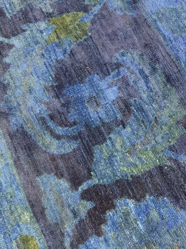 "12'11"" x 19'2"" Hand Weaved New Overdyed Peshawar Super Size Me Area Rugs - Online Oriental Rugs"