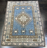 "3'5"" x 4'8.5"" Vintage Turkish Oushak"