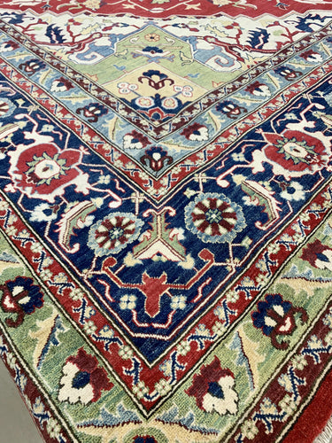 "16'1"" x 16'4"" (almost square) 100% Wool Hand Weaved Kazak  Gorgeous Large Area Rug - Online Oriental Rugs"