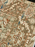 "7'8"" x 11'2"" Antique Heriz Large Area Rug"