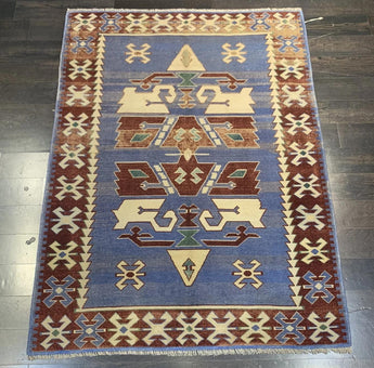 "4' x 5'3"" Vintage Turkish Oushak"