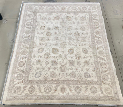 "11'10"" x 14'7"" Gorgeous Soft Pastel Colored Peshawar Large Area Rug"