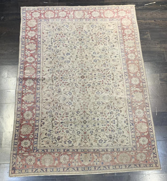 "4'6"" x 5'5"" Vintage Turkish Oushak"