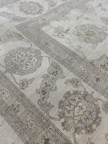 "11'10"" x 14'7"" Gorgeous Soft Pastel Colored Peshawar Large Area Rug - Online Oriental Rugs"