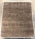 "7'10"" x 9'8"" Ikat Hand Weaved Beautiful Brown Area Rug"