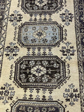 "4'4"" x 11'2"" Vintage Turkish Oushak Runner"