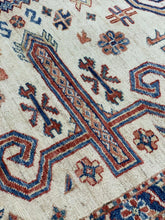 "Load image into Gallery viewer, 12' x 15'2"" Beautiful Hand Weaved Super Size Me Kazak Large Area Rug - Online Oriental Rugs"