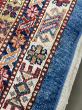 "Load image into Gallery viewer, 12' x 14'6"" 100% Wool Hand Weaved Super Size Me Super Kazack Rug - Online Oriental Rugs"