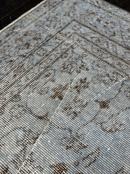 "6' x 9'9"" Very Old Vintage Distressed Tabriz - Online Oriental Rugs"