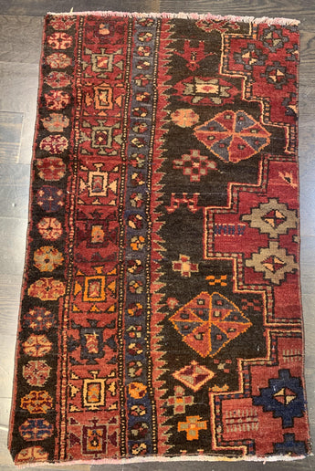 "1'9"" x 3'2"" Antique Rug ""Bit"""