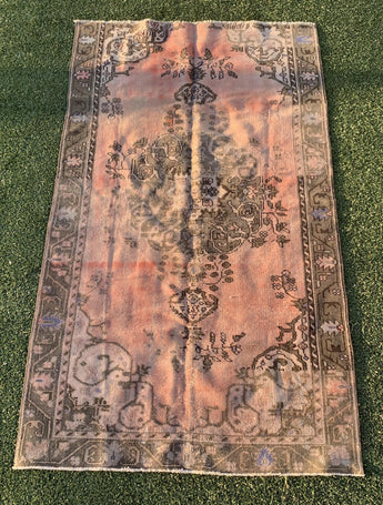 "4'4"" x 7'4"" Antique Turkish Oushak ""Rug Bit"""
