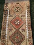 "3' x 9'5"" Vintage Turkish Oushak Runner"