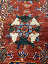 "Load image into Gallery viewer, 13'10"" x 16'4"" Hand Weaved 100% Wool Kazak Large Area Rug - Online Oriental Rugs"