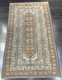 "3'8"" x 6'7"" Vintage Turkish Oushak"
