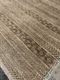 8' x 10' Hand Weaved Brown Khotan Area Rug