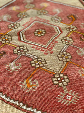 "Load image into Gallery viewer, 2'7"" x 11'1"" 1960's Vintage Turkish Oushak Runner - Online Oriental Rugs"