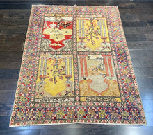 "Load image into Gallery viewer, 4'3"" x 5'5"" Vintage 1940's Turkish Sivas Rug"