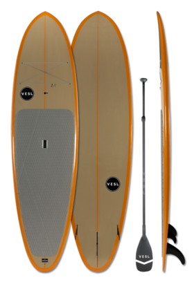 Vesl Brown/Orange Paddle Board, 10'2