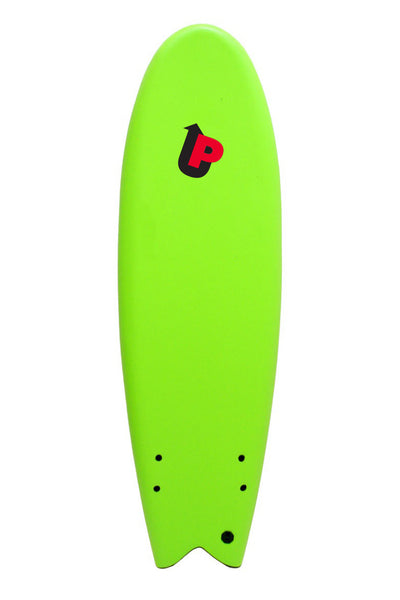 Soft Top Surfboard, Fish Twin Fin, 5'10""