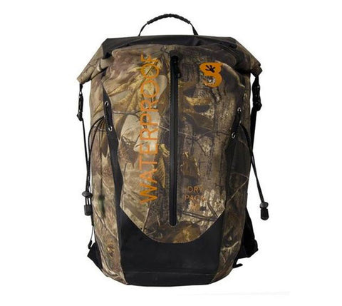 Geckobrand Waterproof Dry Bag Backpack Realtree Xtra