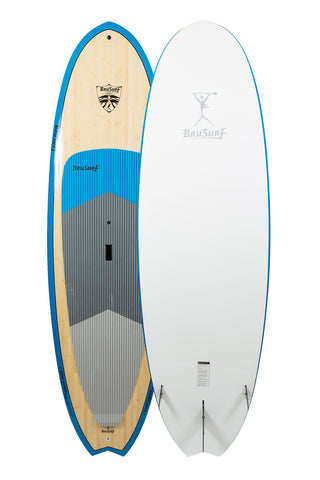 9'6″ BruSurf Surfshred Bamboo Standup Paddle Board