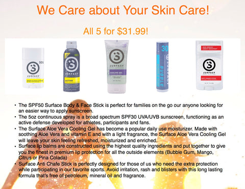 We Care about Your Skin Care!