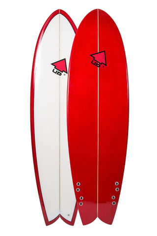 "Quad UP Hybrid Surfboard, 6'6"" UP Sports"