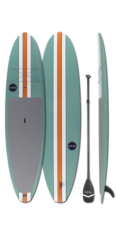 11'0 VESL Retro Series Green Standup Paddle Board