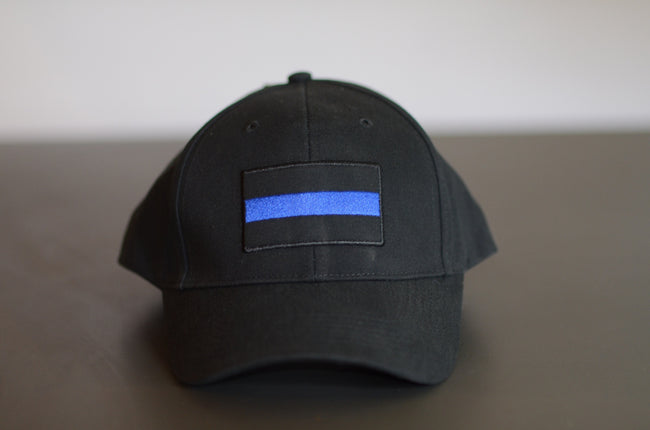 BLUE LINE POLICE SUPPORT HAT