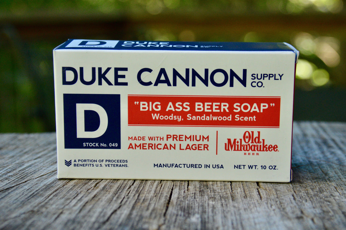 BRICK OF SOAP - BEER SOAP (SANDALWOOD)