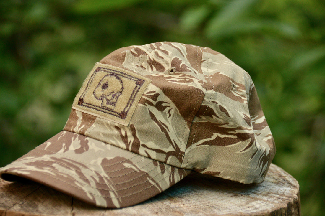 ROGUE AMERICAN TAN TIGER STRIPE DEATH CARD HAT