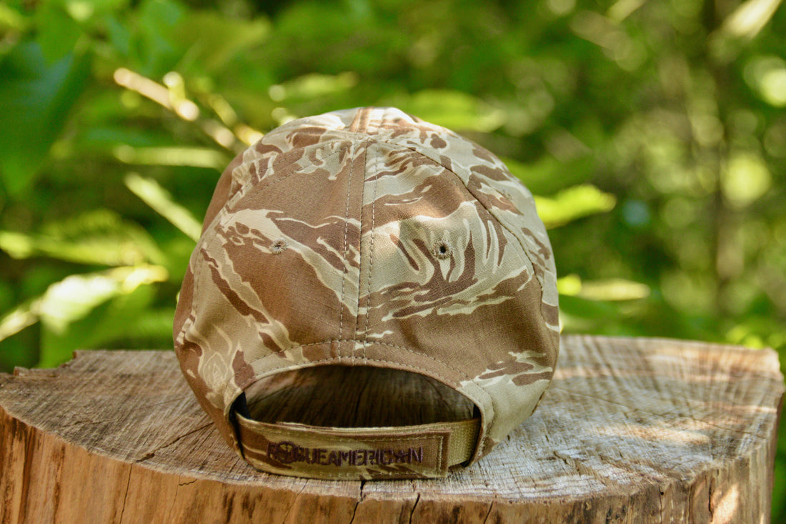ROGUE AMERICAN TAN TIGER STRIPE FLAG HAT