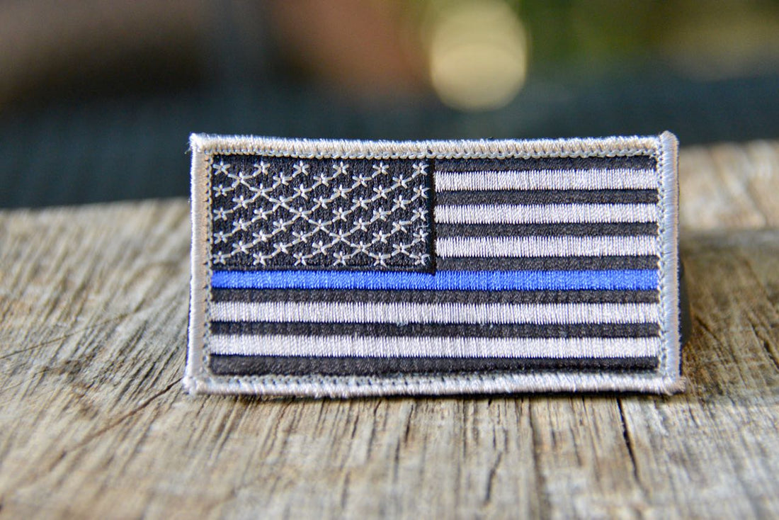 Blue Line - Flag - Police Support Patch