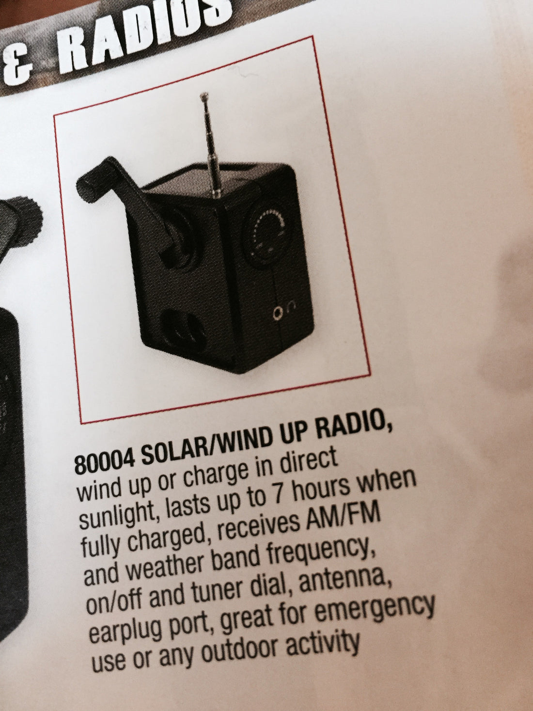 Solar & Wind Up Radio