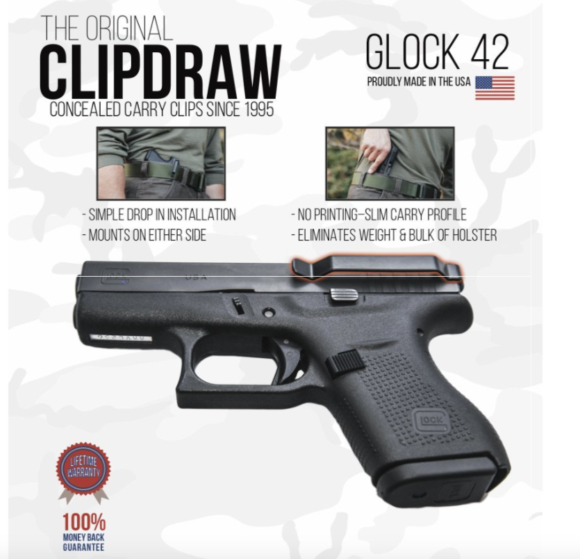 Clipdraw Glock 42 (.380)