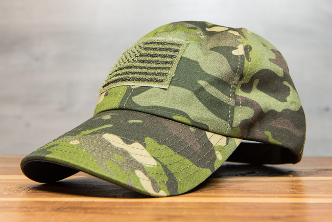 ROGUE AMERICAN TROPICAL MULTICAM FLAG VELCO HAT