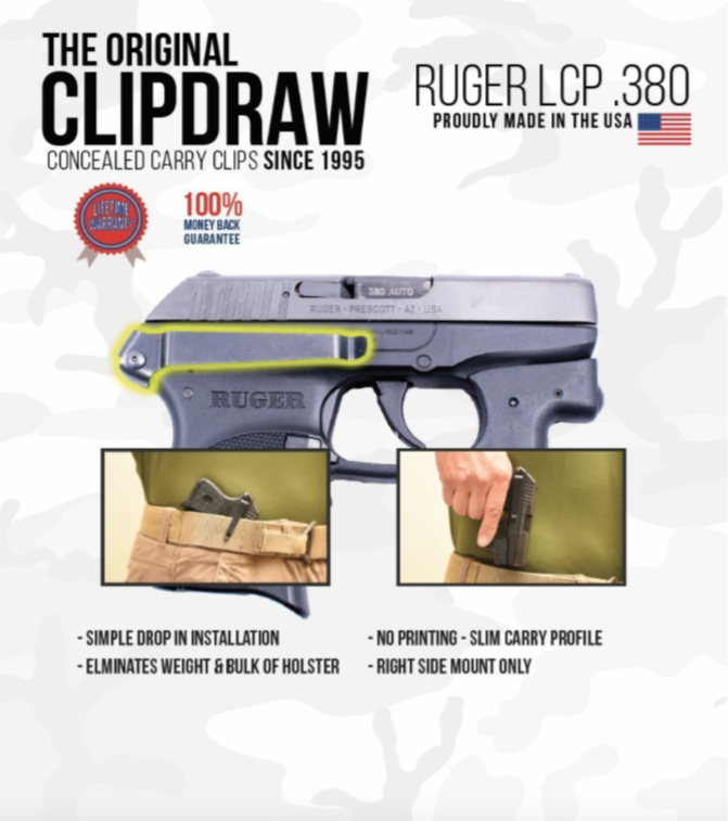 Clipdraw Ruger LCP  380