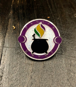 Cauldron Logo Enamel Pin