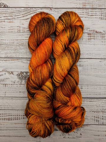 The Great Pumpkin-Foxy Sock-Super Fine Ready to Ship