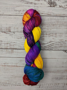 Mad Hatter-Seductress Sock-Super Fine Ready to Ship