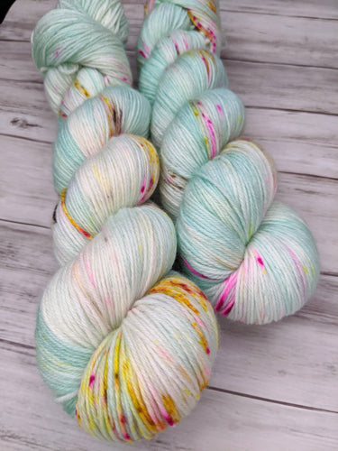 Unbirthday Party-Dryad Sock-Super Fine Ready to Ship
