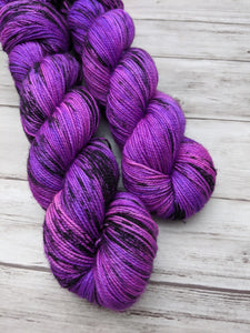 Miss Violet's Flying Machine-Foxy Sock-Super Fine Ready to Ship