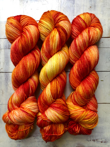 Heat Wave-Foxy Sock-Super Fine Ready to Ship