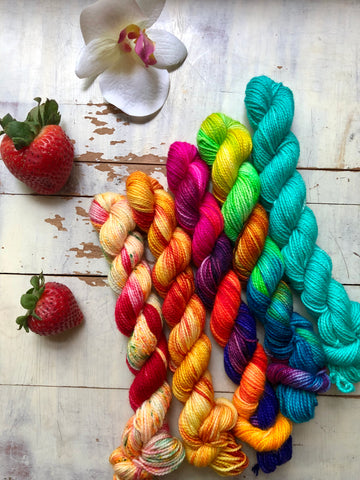 Brazilian Bombshell Mini Skein Set-Super Fine Ready to Ship