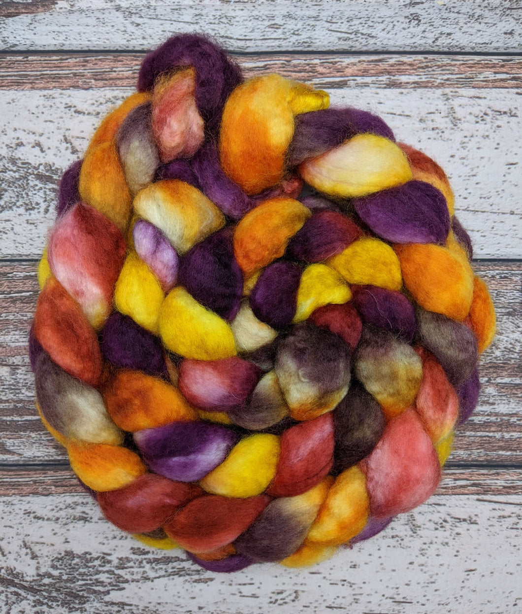 Harvest Moon-Superwash BFL Combed Top-Ready to Ship