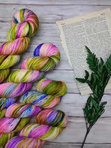 Brazen Bouquet-Foxy Sock-Super Fine Ready to Ship